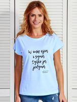 Niebieski t-shirt damski TYLKO JA JEDYNA by Markus P                                  zdj.                                  1
