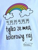 Niebieski t-shirt damski ZE MNĄ KOLOROWY RAJ by Markus P                                  zdj.                                  2