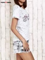 Niebieski t-shirt damski w parasolki Funk n Soul                                  zdj.                                  3