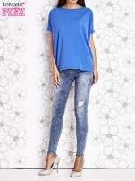Niebieski t-shirt oversize                                  zdj.                                  2