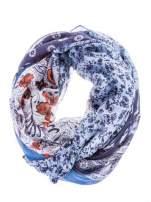 Niebieski wzorzysty szal