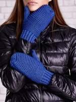 Niebieskie grube rękawiczki na jeden palec                                  zdj.                                  2