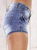 Niebieskie marmurkowe szorty jeansowe                                                                           zdj.                                                                         5