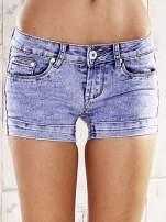 Niebieskie szorty jeansowe marble denim                                  zdj.                                  1