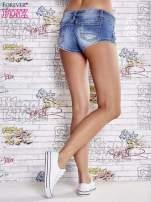Niebieskie szorty jeansowe o długości mini                                  zdj.                                  3