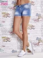 Niebieskie szorty jeansowe z podwijaną nogawką                                  zdj.                                  3