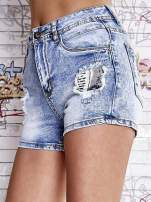 Niebieskie szorty jeansowe z wysokim stanem                                  zdj.                                  1