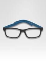 Niebiesko-czarne okulary zerówki kujonki typu WAYFARER NERDY matowe                                  zdj.                                  1