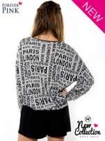Nietoperzowa bluzka z motywem fashion                                  zdj.                                  3