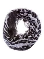 Panterkowa chusta w biało-czarne cętki                                  zdj.                                  2