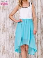 Pastelowozielona tiulowa sukienka z krzyżowanymi plecami