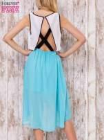 Pastelowozielona tiulowa sukienka z krzyżowanymi plecami                                  zdj.                                  4