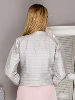 Pikowana krótka kurtka na guziki beżowa                                  zdj.                                  2