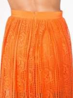 Pomarańczowa ażurowa spódnica midi                                  zdj.                                  6