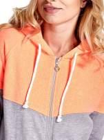 Pomarańczowa bluza z szarym pasem                                  zdj.                                  6