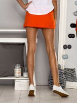 Pomarańczowe gładkie spodenki spódniczka tenisowa                                   zdj.                                  3