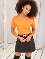 Pomarańczowy t-shirt Flow                                  zdj.                                  3