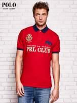 RALPH LAUREN Czerwona koszulka polo męska z naszywkami                                  zdj.                                  1
