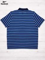 REEBOK Niebieska koszulka polo męska w paski                                  zdj.                                  2