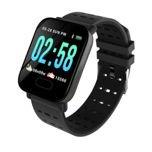RONEBERG Smartwatch Smartband RA6 Pulsometr Ciśnieniomierz Oksymetr Powiadomienia Długi czas działania Czarny                                  zdj.                                  1