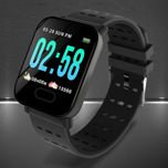 RONEBERG Smartwatch Smartband RA6 Pulsometr Ciśnieniomierz Oksymetr Powiadomienia Długi czas działania niebiesko-czarny                                  zdj.                                  4