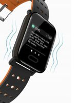 RONEBERG Smartwatch Smartband RA6 Pulsometr Ciśnieniomierz Oksymetr Powiadomienia Długi czas działania niebiesko-czarny                                  zdj.                                  9
