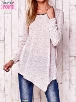 Różowa asymetryczna bluzka z ciemniejszą nitką                                  zdj.                                  1
