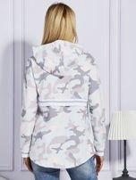 Różowa bluza moro z kapturem                                  zdj.                                  2