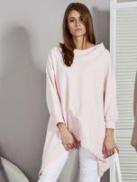 Różowa bluza oversize z kapturem                                  zdj.                                  6