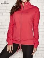 Różowa bluza sportowa fitness z wiązaniem                                  zdj.                                  1