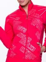 Różowa bluza sportowa z logo EXTORY                                  zdj.                                  3