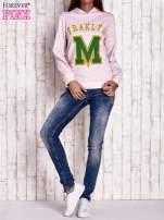 Różowa bluza z kapturem i napisem FRAKLYN M                                                                          zdj.                                                                         2