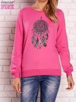 Różowa bluza z nadrukiem łapacza snów                                  zdj.                                  1