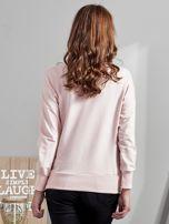 Różowa bluza z rozcięciami i perełkami                                  zdj.                                  1