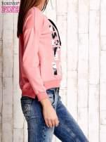 Różowa bluza ze srebrnym napisem                                  zdj.                                  3