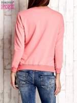 Różowa bluza ze srebrnym napisem                                  zdj.                                  4