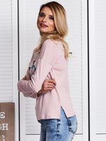Różowa bluzka z kwiatowym haftem                                  zdj.                                  5