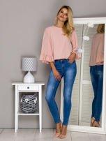 Różowa bluzka z szerokimi rękawami                                  zdj.                                  4