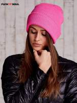 Różowa czapka beanie FUNK N SOUL                                  zdj.                                  2
