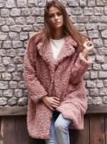 Różowa futrzana kurtka oversize                                  zdj.                                  1