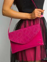 Różowa lakierowana kopertówka z klapką                                  zdj.                                  1