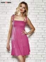 Różowa letnia sukienka w groszki Funk n Soul                                  zdj.                                  1