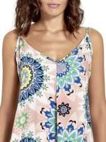 Rożowa letnia sukienka w kwiaty