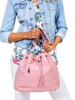 Różowa miękka torba ze ściągaczem                                  zdj.                                  3