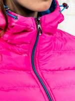 Różowa ocieplana kurtka z kieszeniami                                  zdj.                                  8