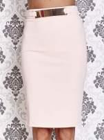Różowa ołówkowa spódnica w stylu glam                                  zdj.                                  1