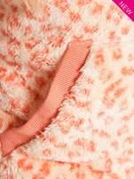 Różowa panterkowa kamizelka z kapturem z uszkami                                  zdj.                                  5