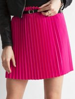 Różowa plisowana spódnica z paskiem                                  zdj.                                  1