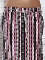 Różowa spódnica maxi w azteckie wzory