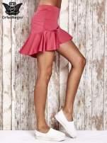 Różowa spódnica mini z falbanką                                                                          zdj.                                                                         3